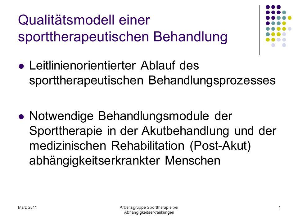 Qualitätsmodell einer sporttherapeutischen Behandlung