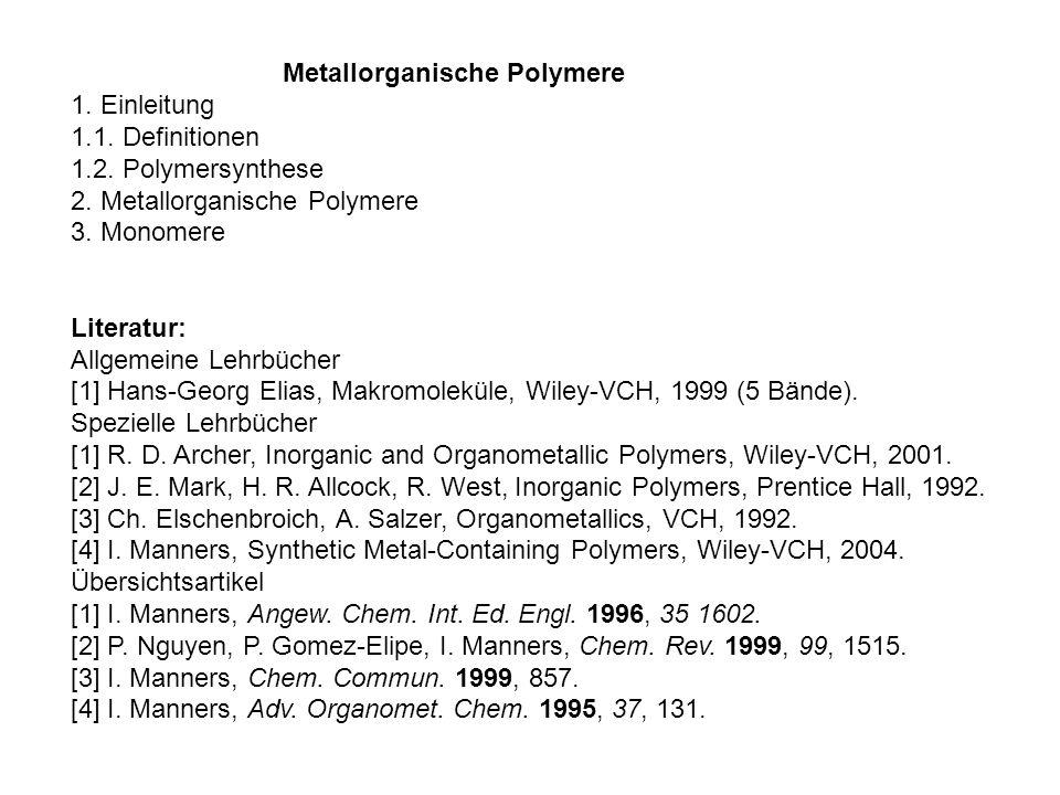 Metallorganische Polymere
