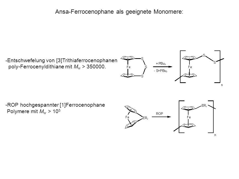 Ansa-Ferrocenophane als geeignete Monomere: