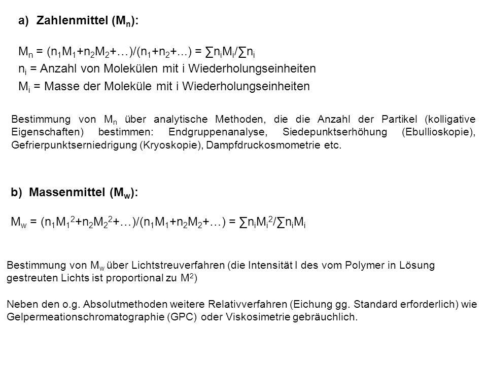 Mn = (n1M1+n2M2+…)/(n1+n2+...) = ∑niMi/∑ni