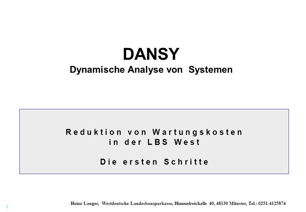 DANSY Dynamische Analyse von Systemen
