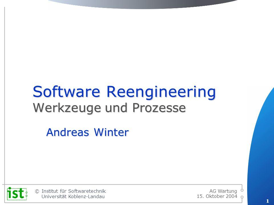 Software Reengineering Werkzeuge und Prozesse
