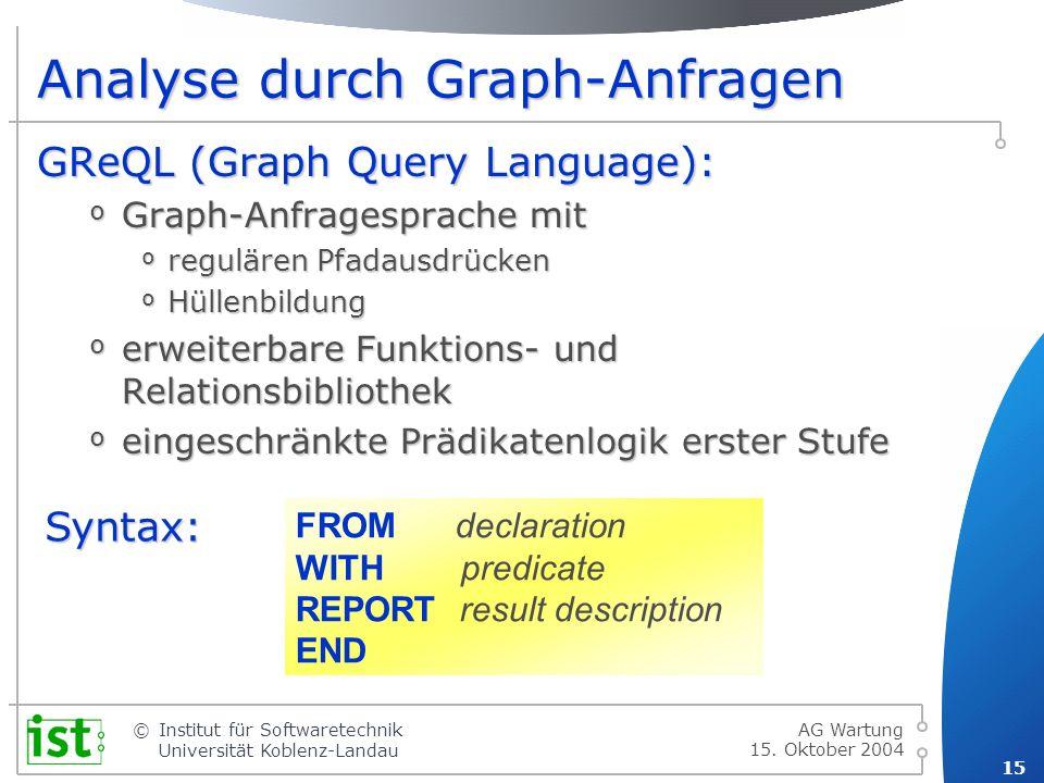 Analyse durch Graph-Anfragen