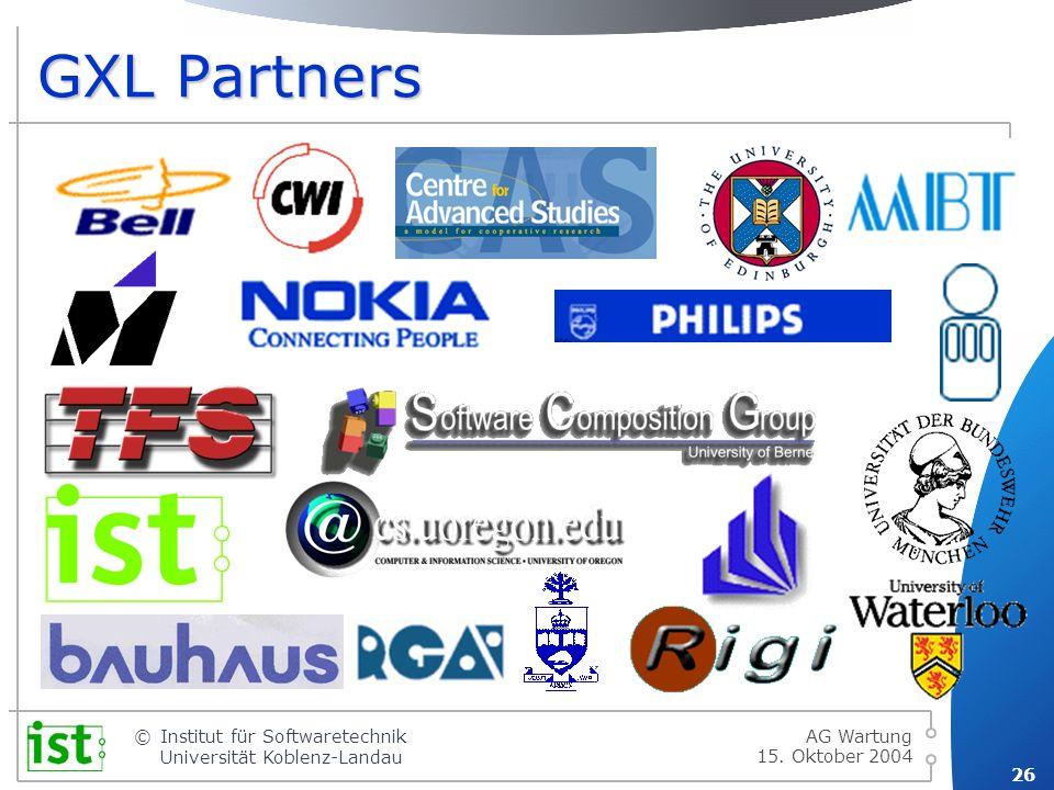GXL Partners AG Wartung 15. Oktober 2004