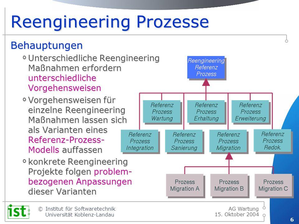 Reengineering Prozesse