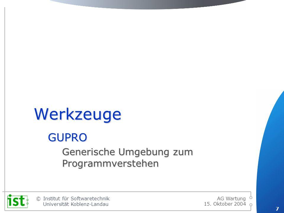 GUPRO Generische Umgebung zum Programmverstehen