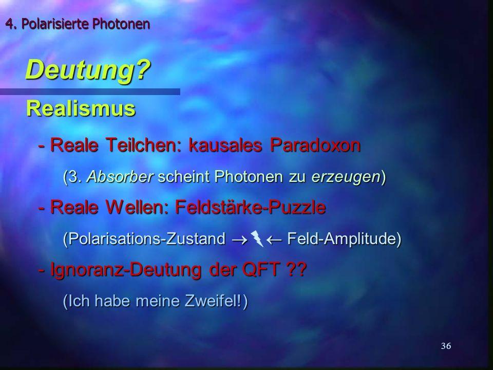 4. Polarisierte Photonen