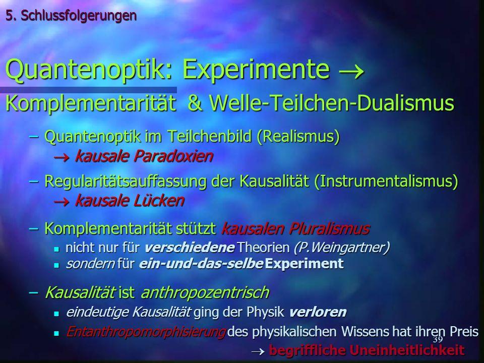 Quantenoptik: Experimente 