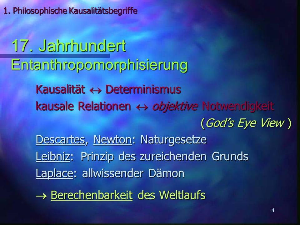 1. Philosophische Kausalitätsbegriffe
