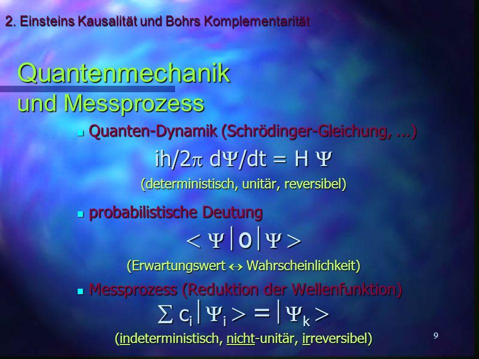 2. Einsteins Kausalität und Bohrs Komplementarität