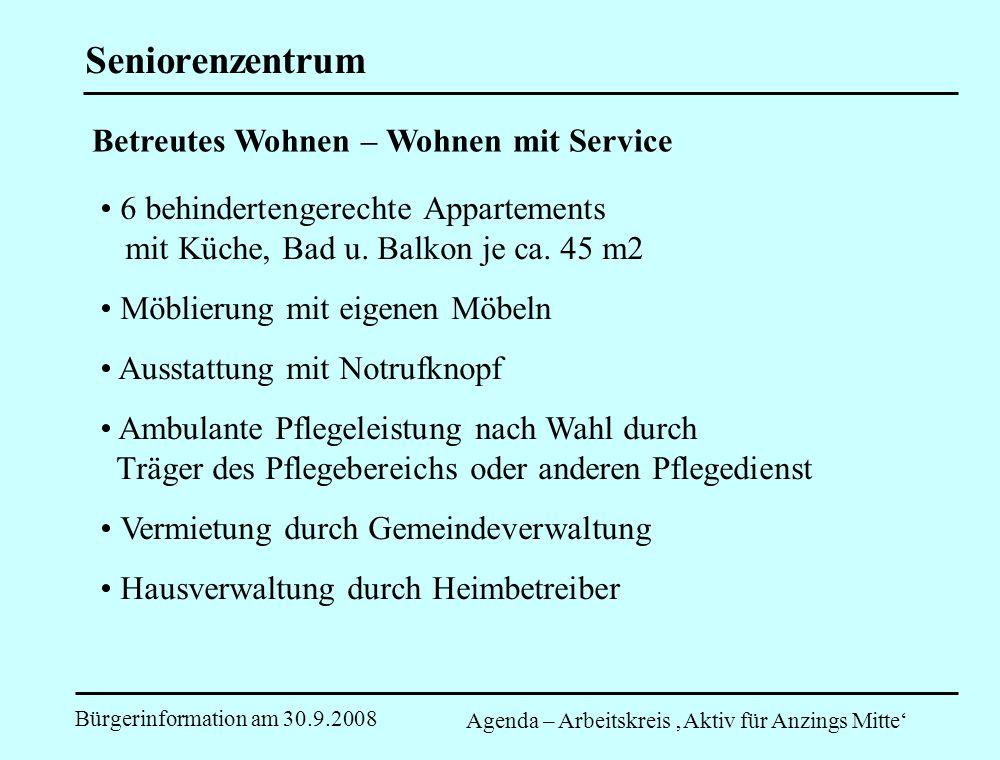 Seniorenzentrum Betreutes Wohnen – Wohnen mit Service
