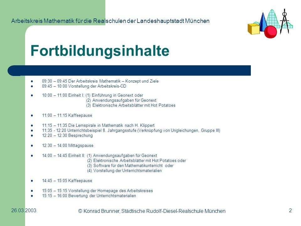 © Konrad Brunner, Städtische Rudolf-Diesel-Realschule München