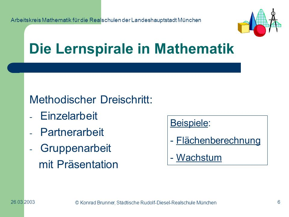 Die Lernspirale in Mathematik