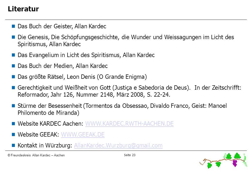 Literatur 23232323 Das Buch der Geister, Allan Kardec