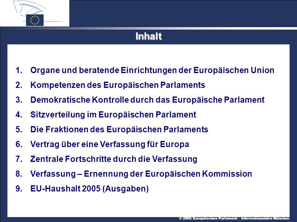 Inhalt 1. Organe und beratende Einrichtungen der Europäischen Union
