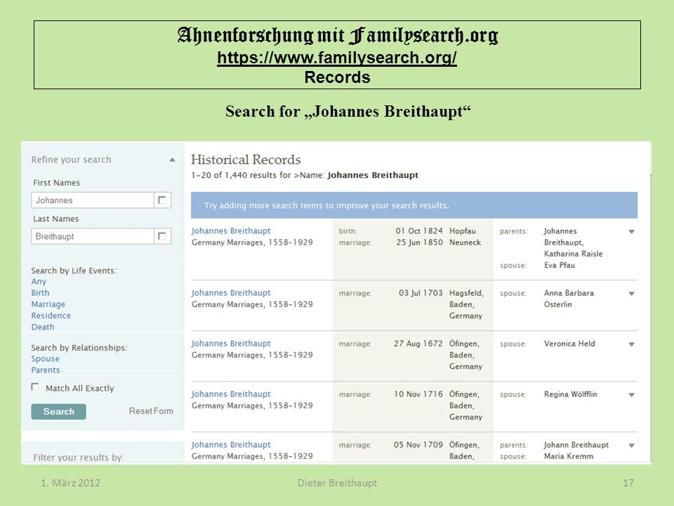 """Search for """"Johannes Breithaupt"""
