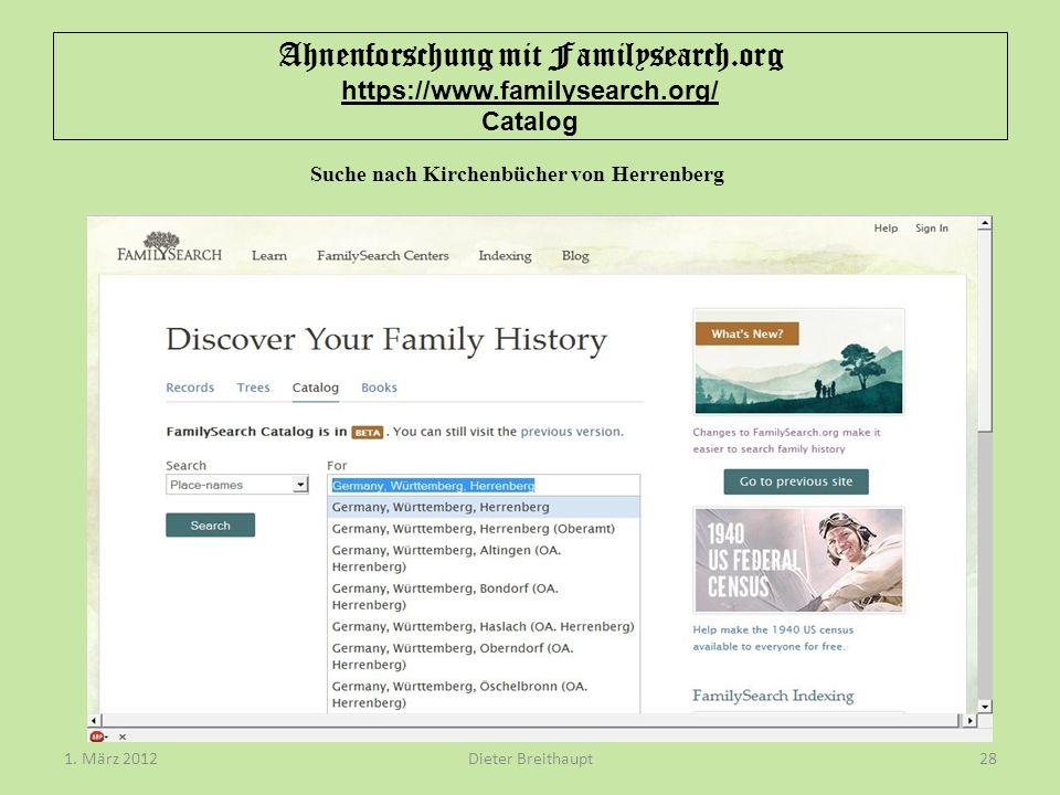 Suche nach Kirchenbücher von Herrenberg