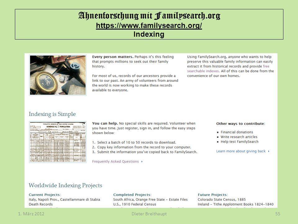 Ahnenforschung mit Familysearch. org https://www. familysearch