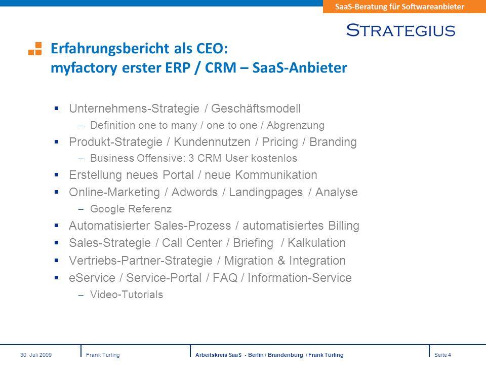 Erfahrungsbericht als CEO: myfactory erster ERP / CRM – SaaS-Anbieter