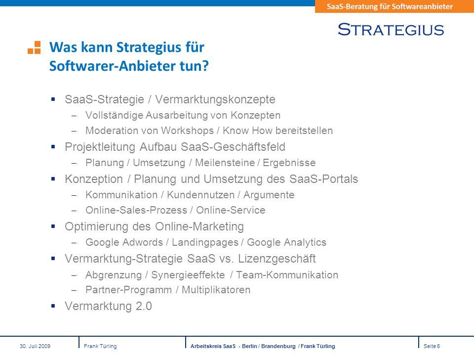 Was kann Strategius für Softwarer-Anbieter tun