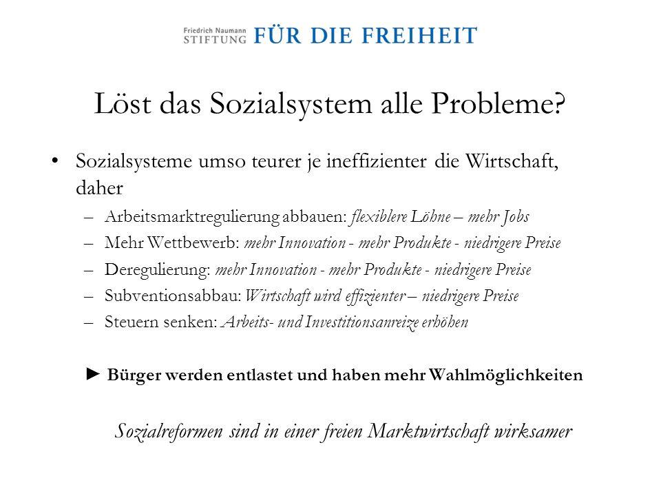 Löst das Sozialsystem alle Probleme
