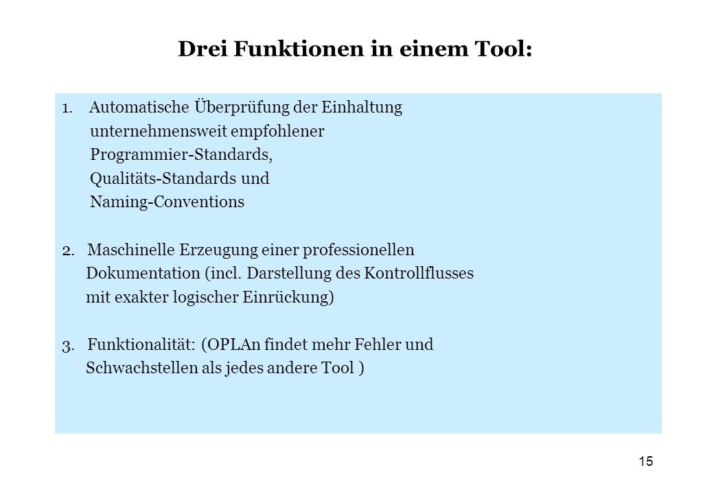 Drei Funktionen in einem Tool: