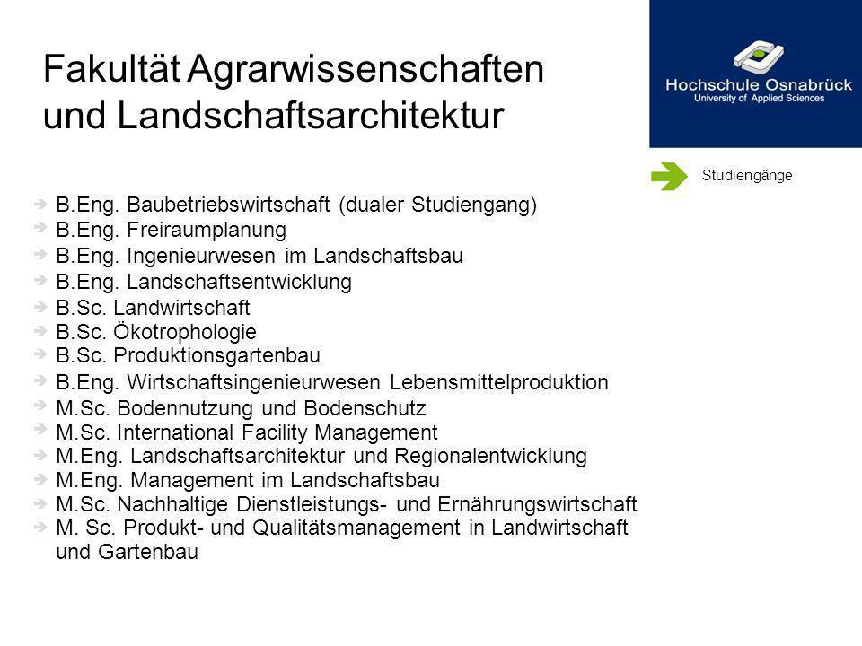 Fakultät Agrarwissenschaften und Landschaftsarchitektur