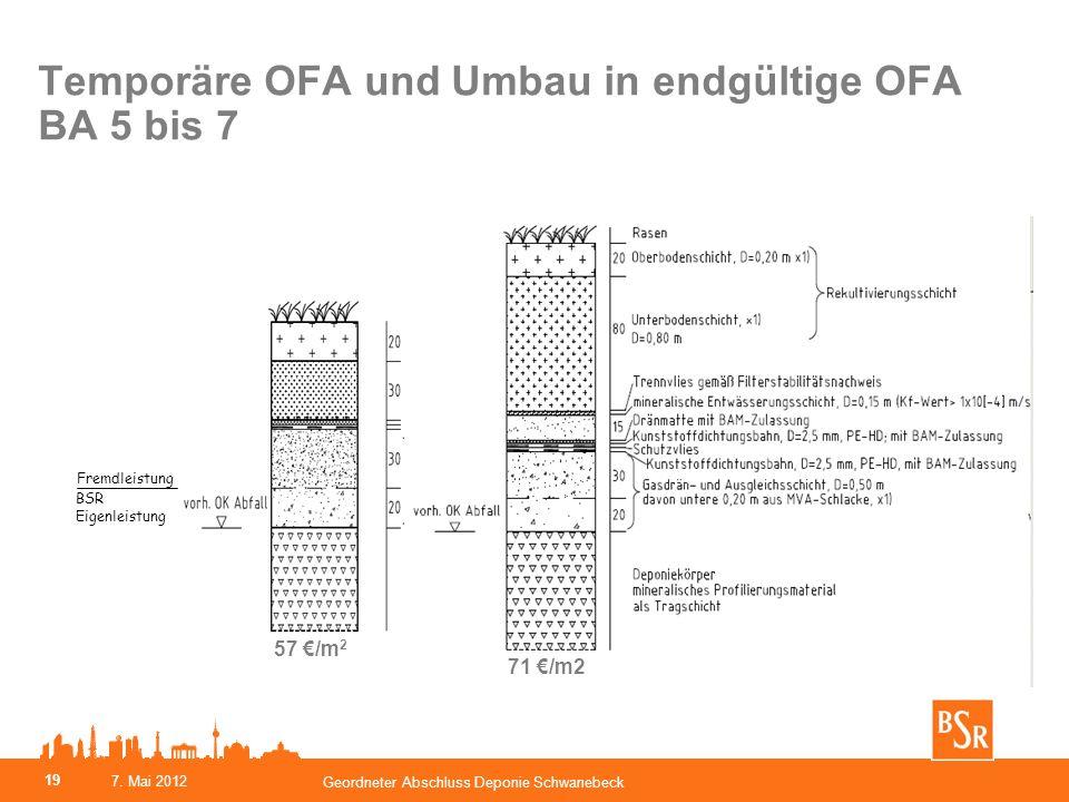 Temporäre OFA und Umbau in endgültige OFA BA 5 bis 7