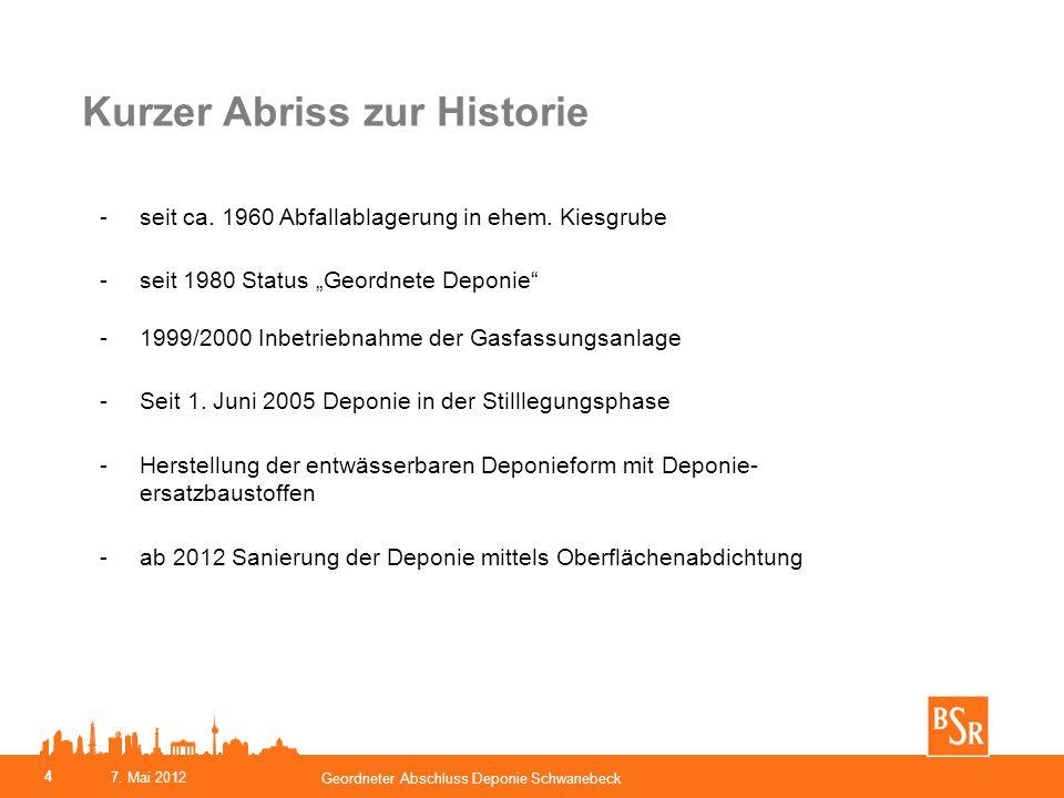 Kurzer Abriss zur Historie