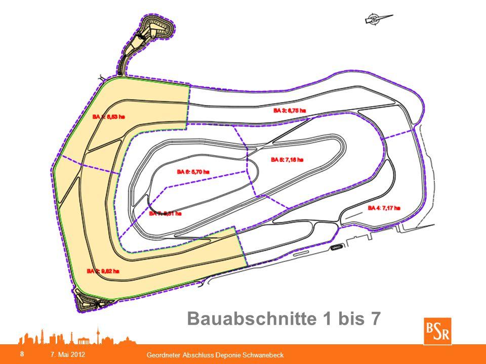Bauabschnitte 1 bis 7 7. Mai 2012 Geordneter Abschluss Deponie Schwanebeck