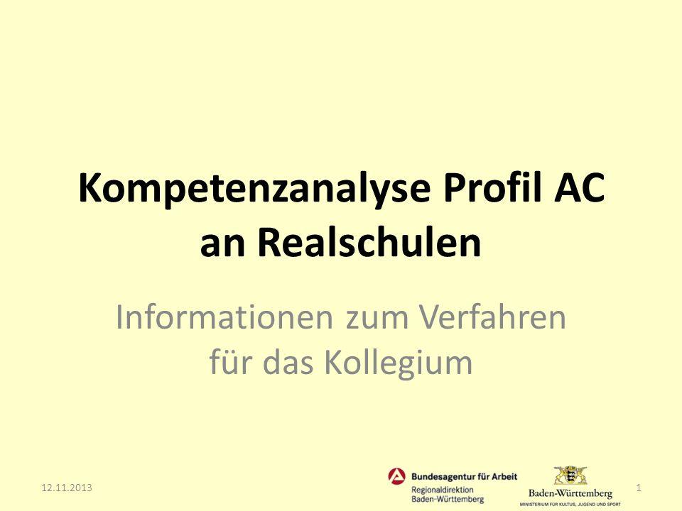 Kompetenzanalyse Profil AC an Realschulen