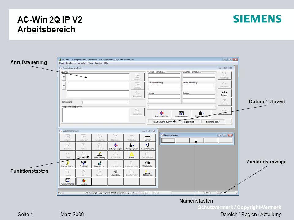 AC-Win 2Q IP V2 Arbeitsbereich