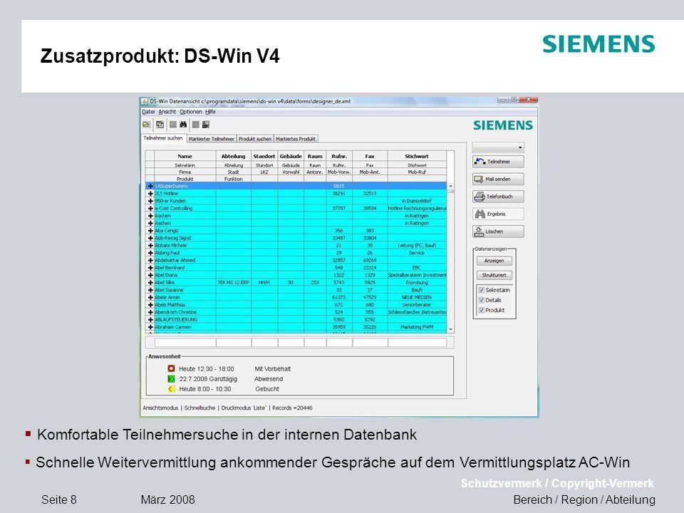 Zusatzprodukt: DS-Win V4