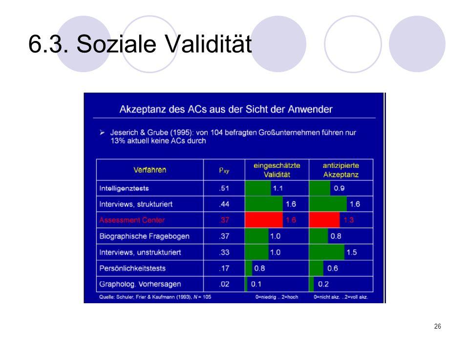 6.3. Soziale Validität