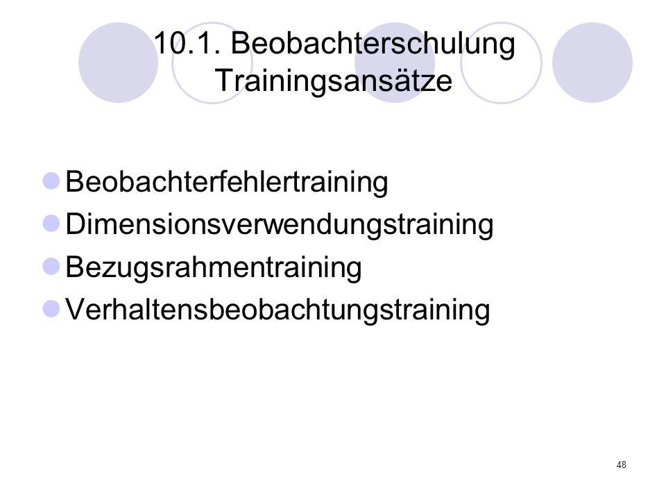 10.1. Beobachterschulung Trainingsansätze
