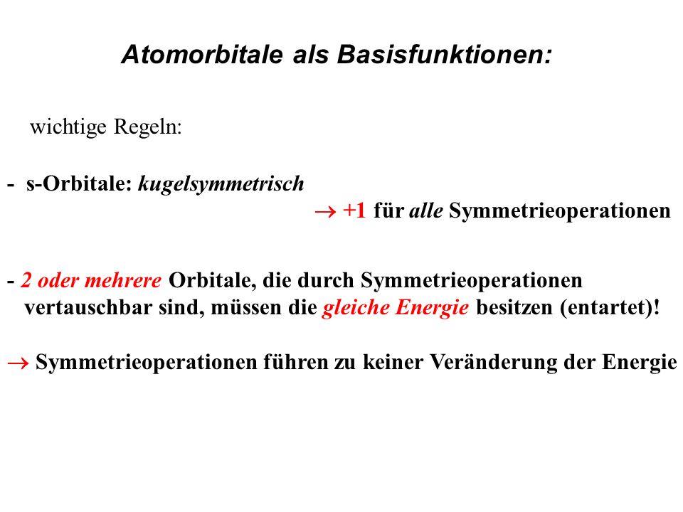 Atomorbitale als Basisfunktionen: