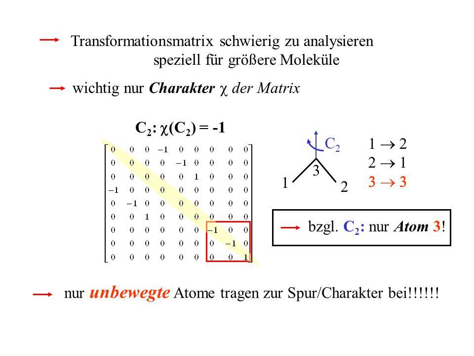 Transformationsmatrix schwierig zu analysieren
