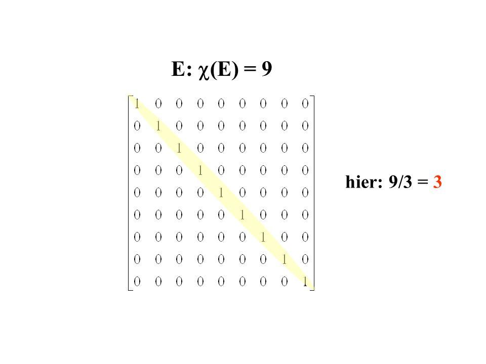 E: c(E) = 9 hier: 9/3 = 3