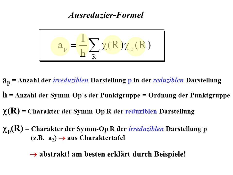 h = Anzahl der Symm-Op´s der Punktgruppe = Ordnung der Punktgruppe
