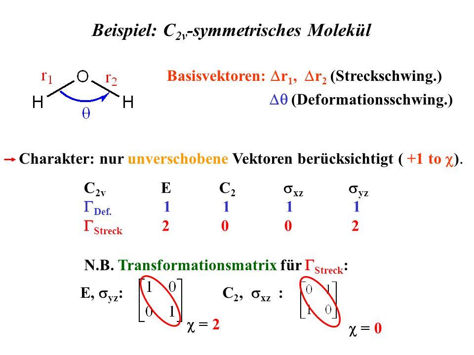 Beispiel: C2v-symmetrisches Molekül