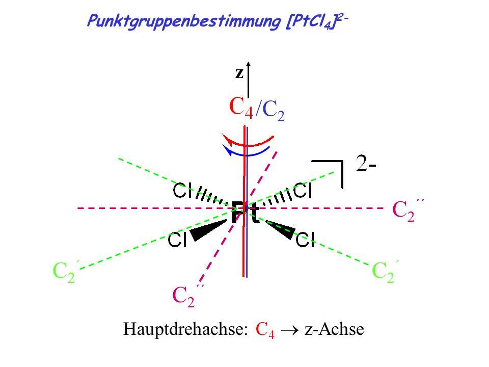 /C2 C2´´ C2´ z Hauptdrehachse: C4 ® z-Achse