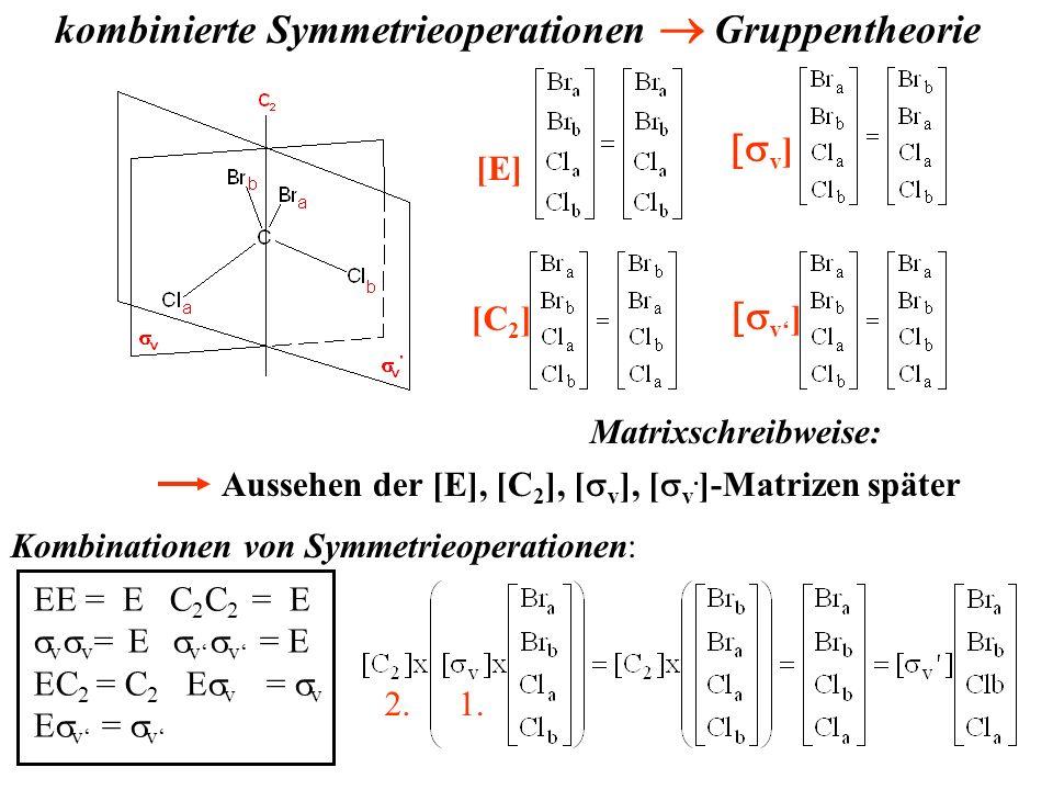 kombinierte Symmetrieoperationen ® Gruppentheorie