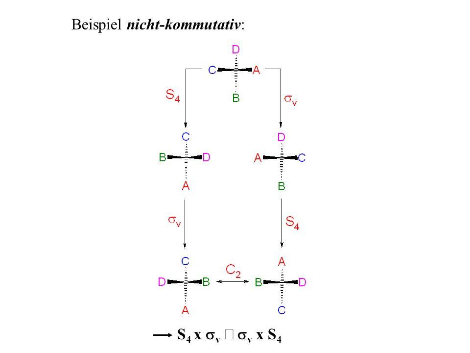 Beispiel nicht-kommutativ: