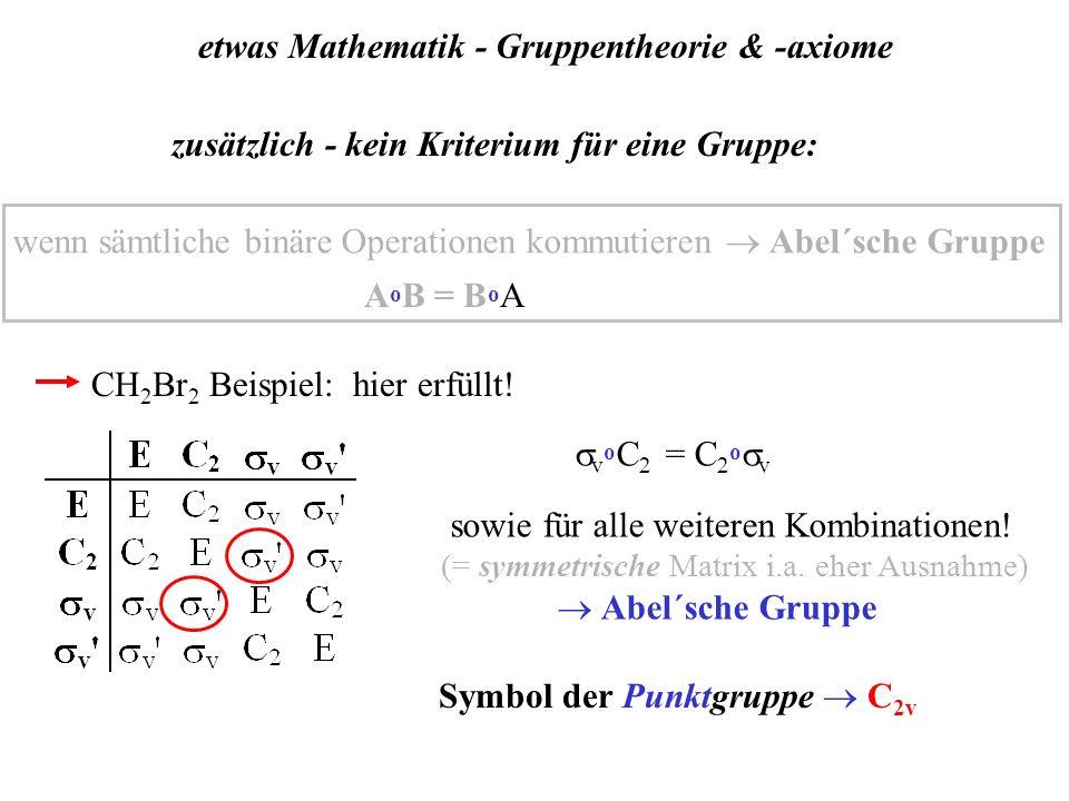 etwas Mathematik - Gruppentheorie & -axiome