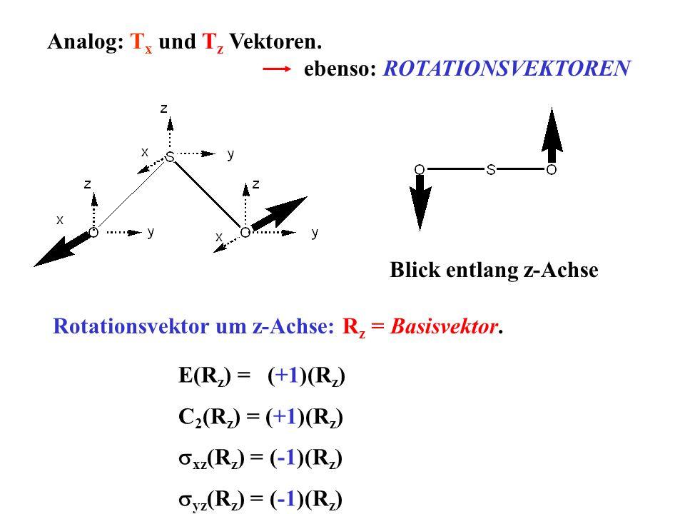 Analog: Tx und Tz Vektoren.