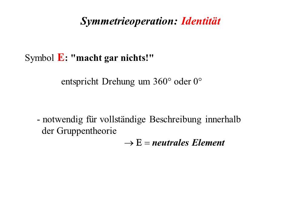 Symmetrieoperation: Identität