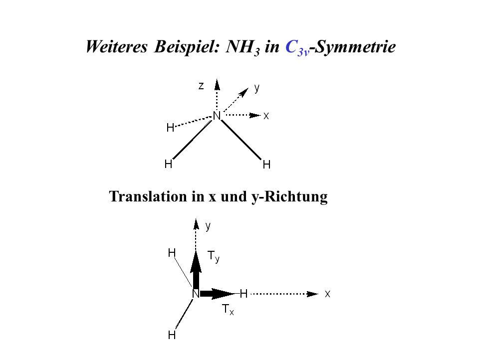 Weiteres Beispiel: NH3 in C3v-Symmetrie