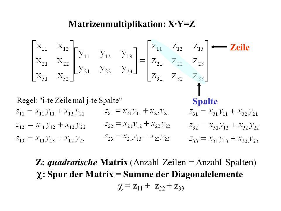 Matrizenmultiplikation: X·Y=Z