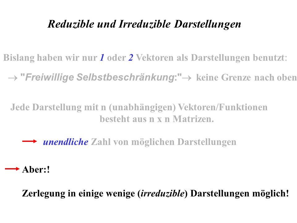 Reduzible und Irreduzible Darstellungen