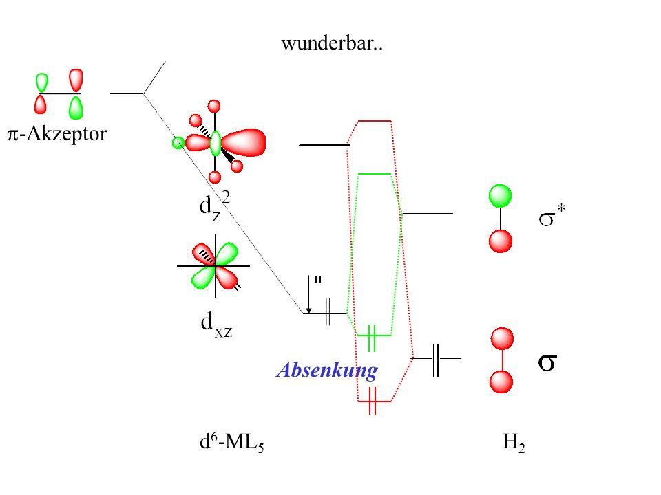 wunderbar.. p-Akzeptor H2 d6-ML5 Absenkung